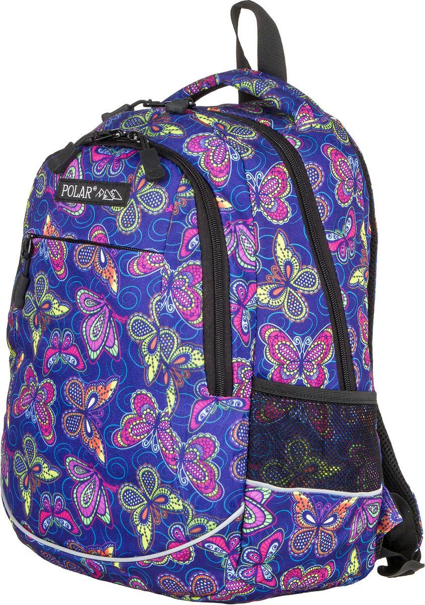 Рюкзак молодежный Polar, цвет: сиреневый, 22 л. 1730217302Городской подростковый рюкзак Polar с модным дизайном подойдет для ежедневного использования. Рюкзак выполнен из полиэстера. Онимеет одно основное отделение, переднийкарман с кармашками для канцелярии и 2 боковых сетчатых кармана. Рюкзак оснащен ортопедической спинкой, ручкой для переноски ирегулируемыми лямками.