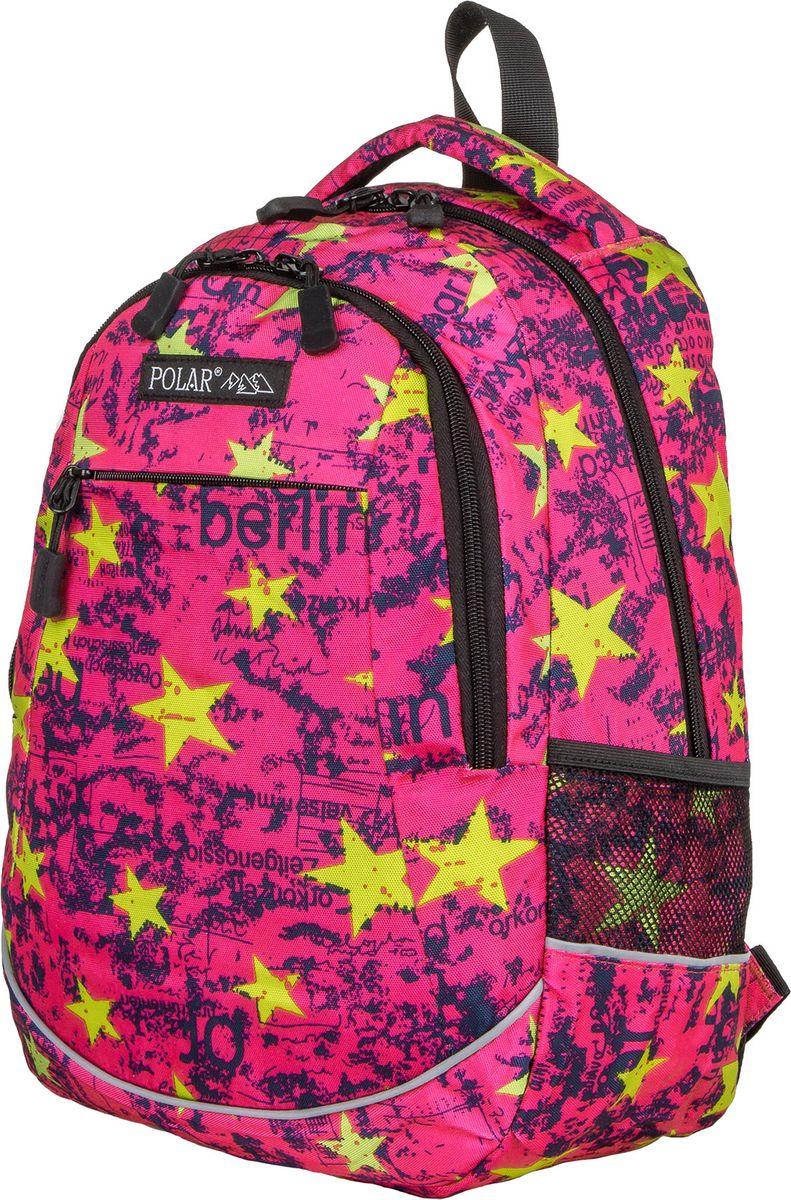 Рюкзак молодежный Polar, цвет: розовый, 22 л. 17302 рюкзак городской polar цвет фиолетово синий 22 5 л 15008