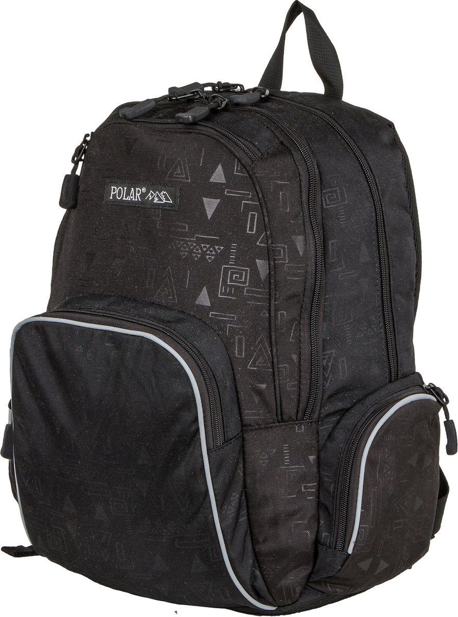 Рюкзак молодежный Polar, цвет: черный, 22 л. 1730317303Городской подростковый рюкзак Polar с модным дизайном подойдет для ежедневного использования. Рюкзак выполнен из полиэстера. Он имеет два основных отделения, передний карман с кармашками для канцелярии, 2 боковых кармана на молнии. Рюкзак оснащен ортопедической спинкой, ручкой для переноски и регулируемыми лямками.
