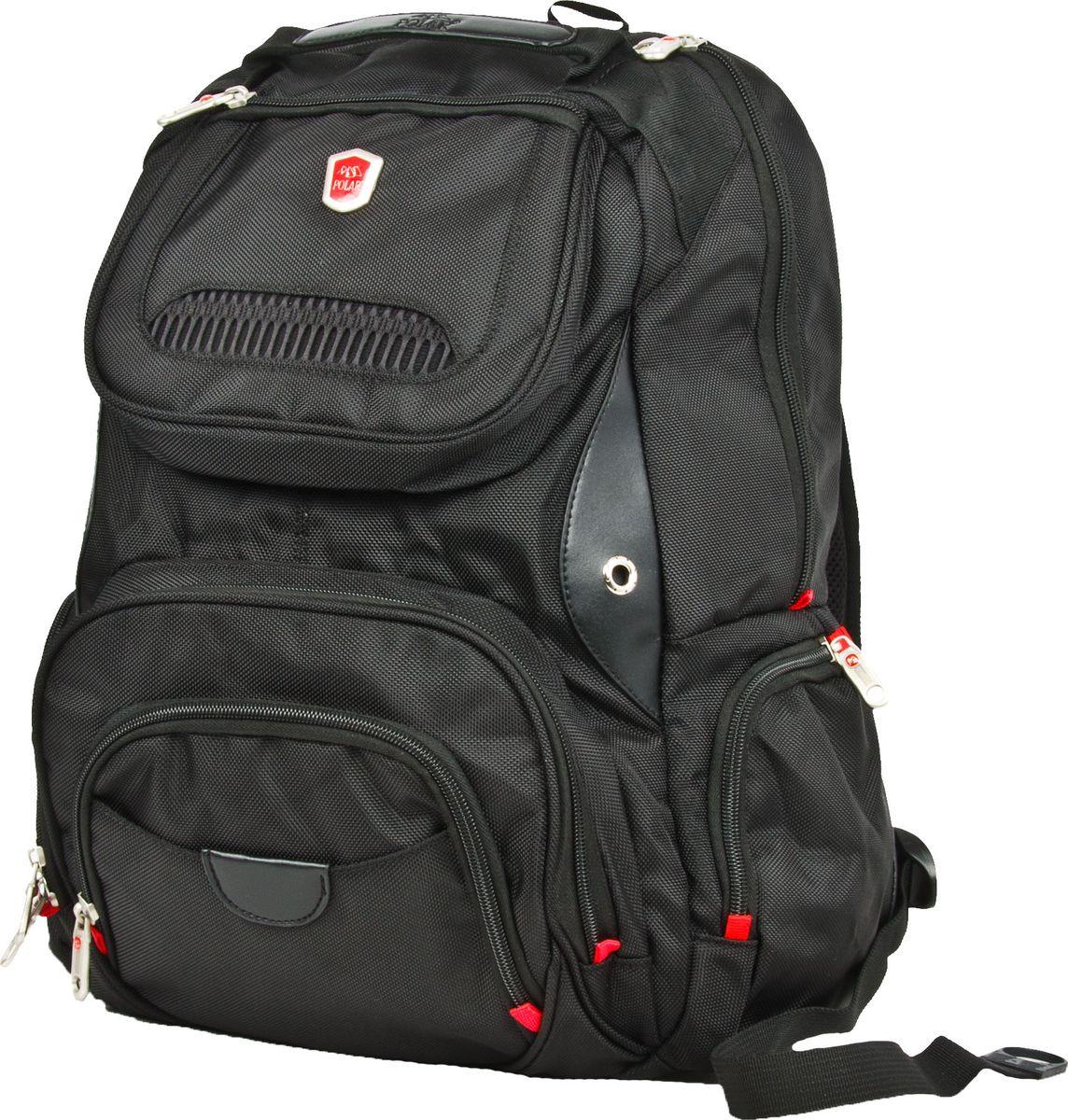 Рюкзак городской Polar, цвет: черный, 26 л. 30343034Удобный рюкзак Polar выполнен из полиэстера. Он предназначен для переноски ноутбука. В комплекте идет универсальный переходник- удлинитель для наушников 3,5 мм, выход на левой лямке рюкзака.Особенности: Система циркуляции воздуха AirFlow для комфорта и максимального удобства для спины; Плечевые ремни анатомической формы;Прочная ручка для переноски рюкзака;Внутренний карман для размещения MP3-плеера;Отделение для ноутбука до 15 дюймов; Петля для солнцезащитных очков;Карман для мобильного телефона на правой лямке рюкзака;Два боковых кармана на молнии;Карман- органайзер для мелких предметов; Снаружи рюкзака два накладных кармана на молнии размерами 19 х 17 см.