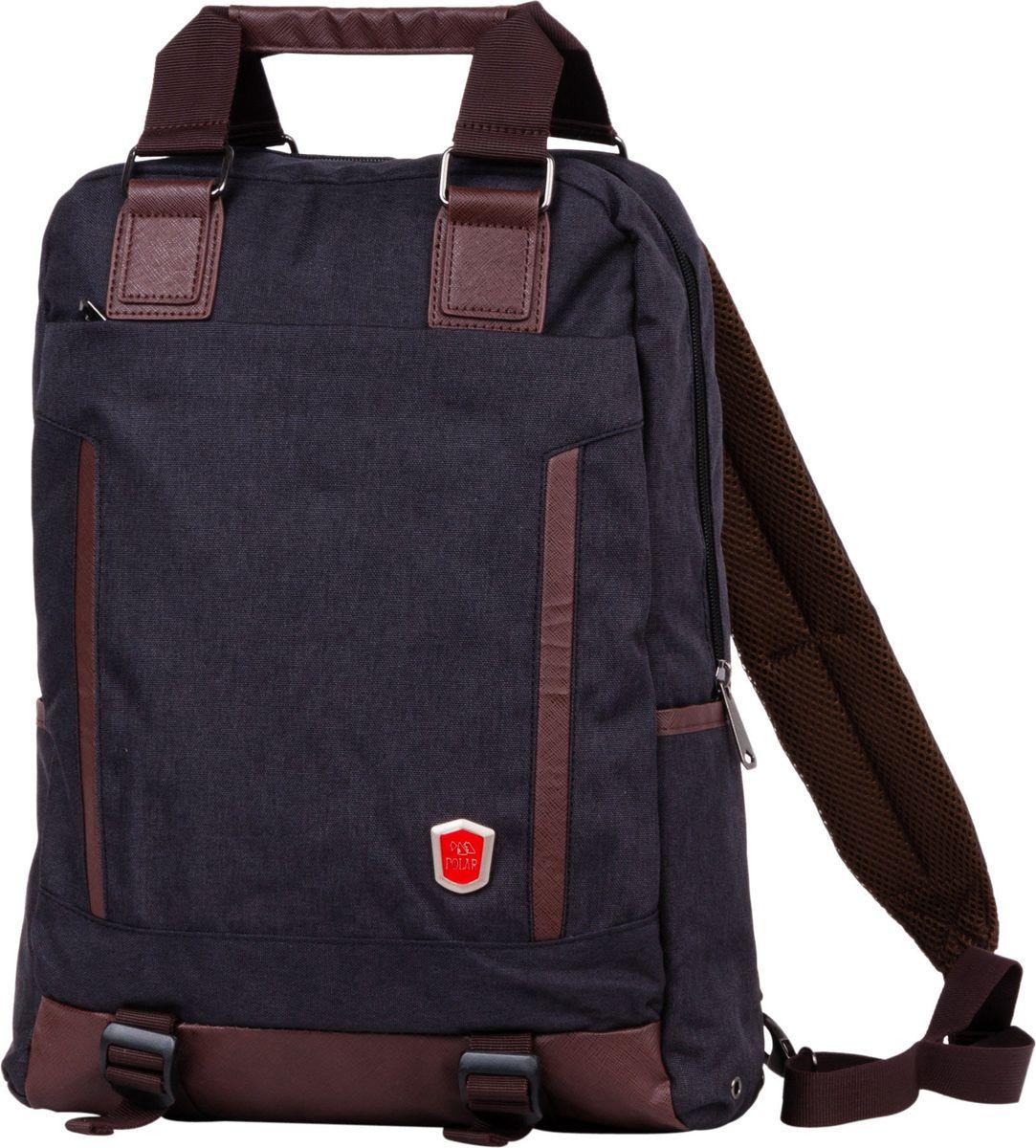 Рюкзак-сумка городской Polar, цвет: черный, 12 л. 541-13