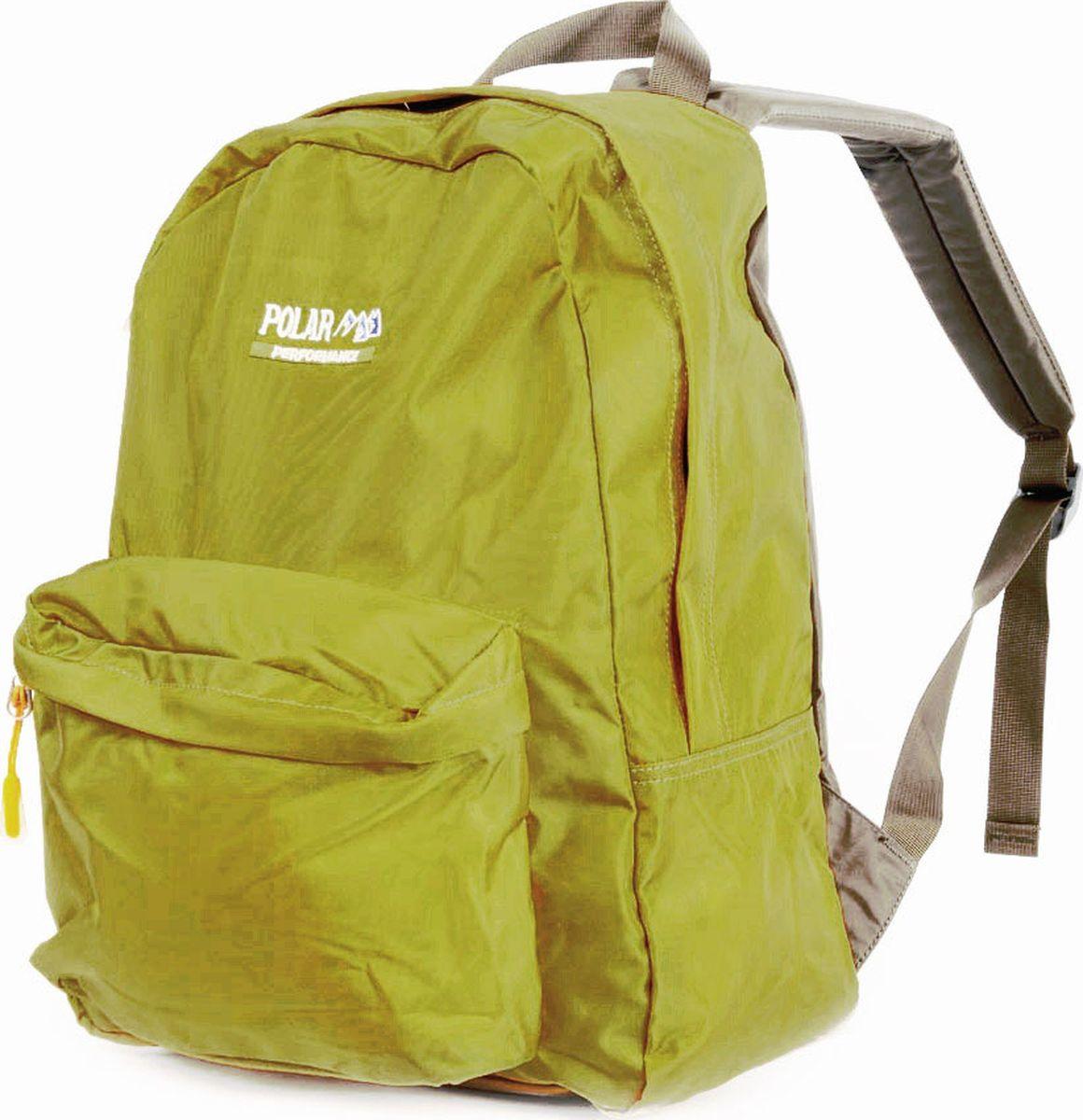 Рюкзак городской Polar, цвет: желтый, 27,5 л. П1611-03П1611-03Рюкзак легкий городской. Одно основное отделение. Спереди — накладной карман на молнии. Спинка и лямки рюкзака пропенены.