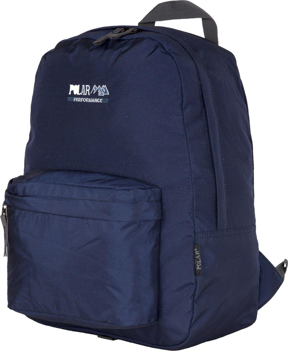 Рюкзак городской Polar, цвет: темно-синий, 27,5 л. П1611-04П1611-04Легкий городской рюкзак Polar подойдет для ежедневного использования. Выполнен из полиэстера. Рюкзак имеет одно основное отделение, которое закрывается на молнию. Спереди - накладной карман на молнии. Спинка и лямки рюкзака пропенены.