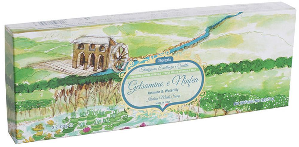 Iteritalia Мыло натуральное косметическое с оливковым маслом в подарочной упаковке ,аромат жасмин и кувшинка 3*100 гр.NT-83730610Высококачественное натуральное растительное мыло коллекции Цветы Италии, обогащенное оливковым маслом, обладает питательным, увлажняющим и успокаивающим свойствами, имеет тонкий, изысканный аромат жасмина и кувшинки. Подходит для всех типов кожи.