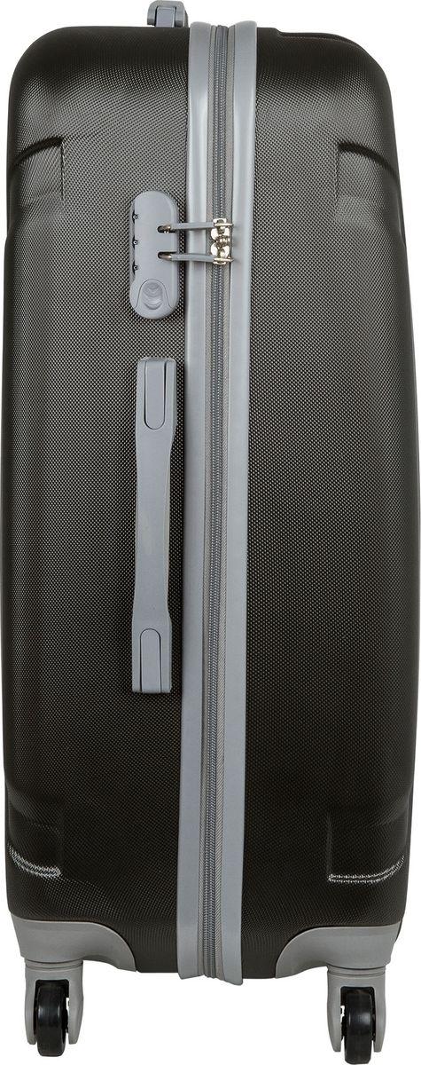 Чемодан Polar, цвет: темно-серый, 79 л. Р12029-25ТСР12029-25ТСНеубиваемые пластиковые чемоданы на четырех колесиках с кодовым замком и выдвижной тележкой.Внутри подкладка из полиэстера.