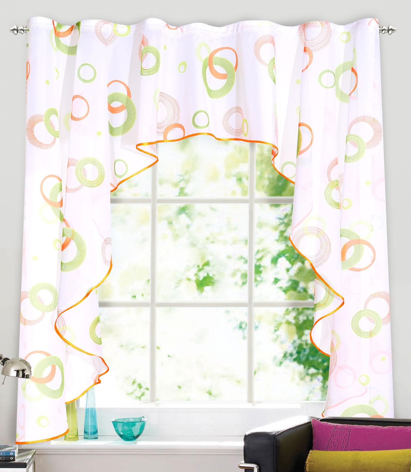 Штора Garden, на ленте, цвет: белый, высота 150 см. С 3328-W191 V6С 3328 - W191 V6Изящная штора Garden выполнена из ткани вуаль с печатным рисунком. Приятная цветоваягамма, привлечет к себе внимание и органично впишутся в интерьер помещения. Штора крепится на карниз при помощи ленты, которая поможет красиво и равномернозадрапировать верх.