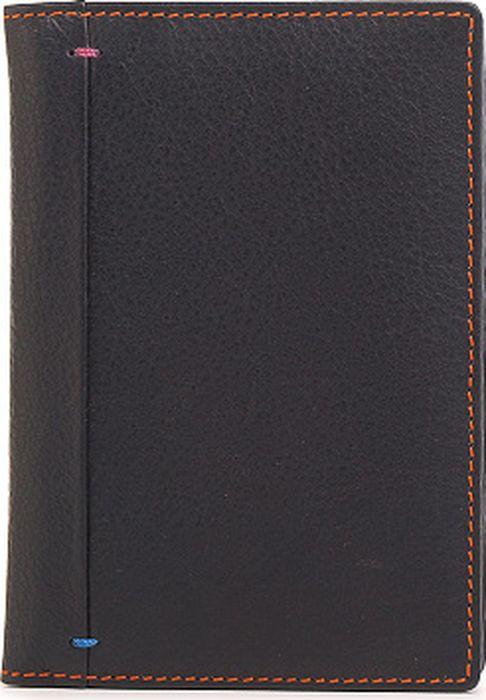 Обложка для паспорта женская Ventoro, цвет: черный. п035 Ven наппа - Обложки для паспорта