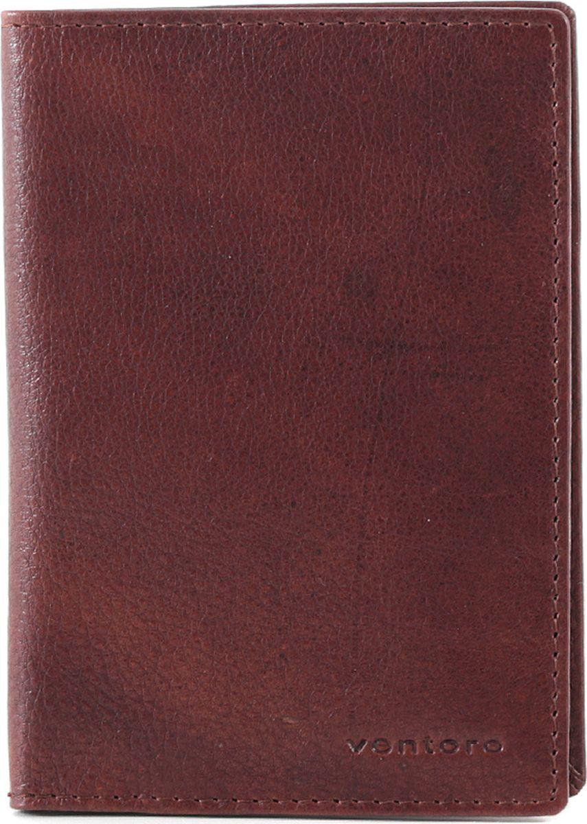 Обложка для паспорта женская Ventoro, цвет: коричневый. п035 Ven тампонато