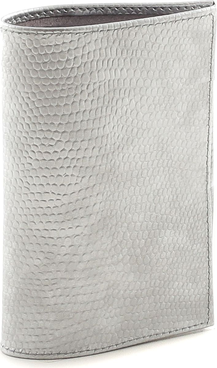 Обложка для паспорта женская Fiato, цвет: серебристый. р4000 FIATO В-10р4000 FIATO В-10 (обложка женская)Обложка для паспорта итальянского бренда Fiato от известной дизайнерской студии Sepani lab, сделана из натуральной кожи.