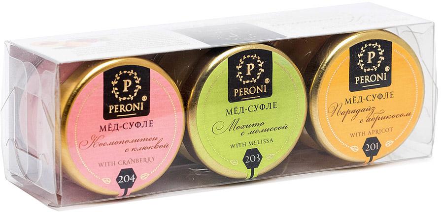 Peroni Коктейли мед-суфле подарочный набор, 3 шт по 30 г медовая серия peroni вкус россии premium 4 x 30 мл