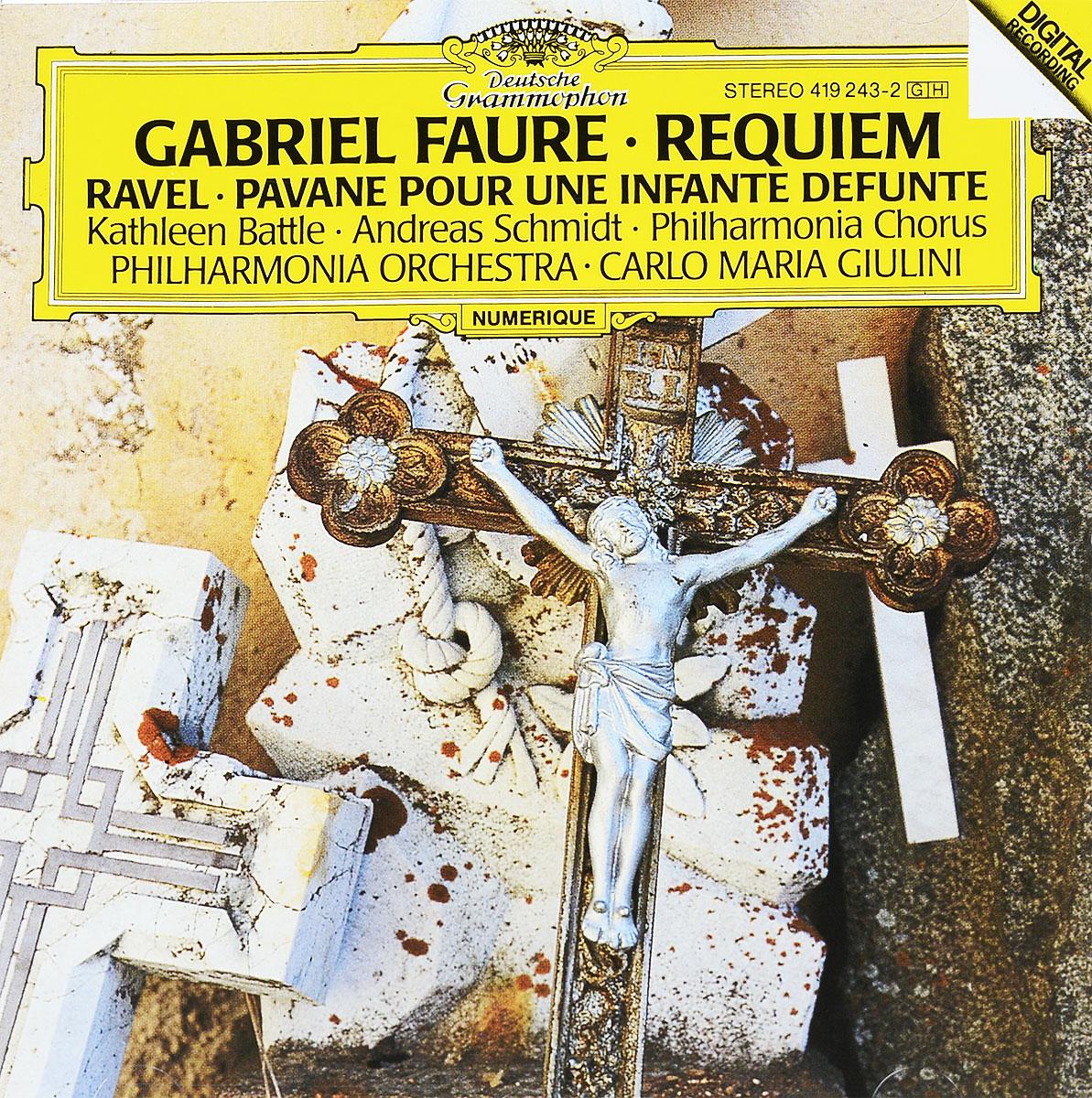 Карло Джулини,Андреас Шмидт,Кэтлин Баттл,Philharmonia Orchestra Gabriel Faure. Requiem / Maurice Ravel. Pavane Pour Une Infante Defunte sir neville marriner faure requiem