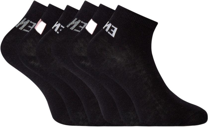 Носки женские oodji, цвет: черный, 6 пар. 57102418T6/47469/19T1P. Размер 38/4057102418T6/47469/19T1PКрасивые и практичные укороченные носки от oodj в наборе из шести пар. Носки из хлопка с добавлением эластана приятны на ощупь, обладают прекрасными практическими характеристиками: позволяют коже дышать, впитывают влагу, приятны для тела. Благодаря добавлению эластана даже после многочисленных стирок носки не вытягиваются и отлично сохраняют первоначальную форму. В этих носках вашим ногам будет комфортно!С набором из шести пар вы всегда знаете, что у вас в запасе есть чистые носки. И сможете быстрее собираться, особенно если времени не хватает. Укороченные носки прекрасно подходят под джинсы или спортивные брюки. Они идеально сочетаются с кедами, кроссовками или ботинками. Стильные и комфортные носки станут отличным дополнением для вашей коллекции базовых вещей.
