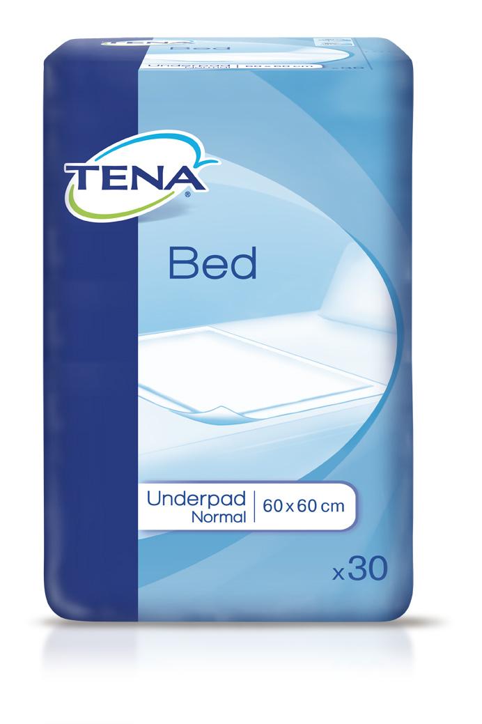 Впитывающие пеленки Tena Bed Normal, 60 см x 60 см, 30 шт luxsan пеленки впитывающие одноразовые basic normal 60 см х 60 см 30 шт