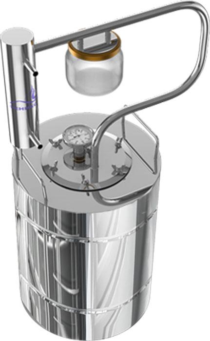 Феникс Шахтер дистиллятор, 12 лДистиллятор Феникс Шахтер 12 литровФеникс Шахтер - это самогонный аппарат с разборным сухопарником из стеклянной банки, проточным холодильником с классическим змеевиком внутри, надежным качественным перегонным кубом и встроенным биметаллическим термометром. Разборный сухопарник из стеклянной банки поможет вам отследить наполняемость емкости сухопарника сивушными фракциями (во избежание переполнения), а также ароматизировать продукт в процессе перегонки путем заложения в сухопарник ароматических ингредиентов. Смотреть на работу такого сухопарника одно удовольствие - все видно как на ладони.Высота в сборе: 61,5 см. Диаметр перегонной емкости: 23,2 см.