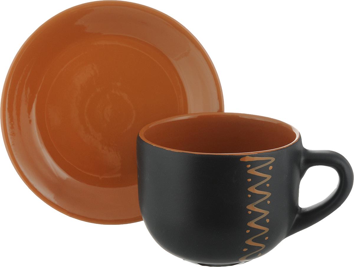 Чайная пара Борисовская керамика Чугун, 2 предмета