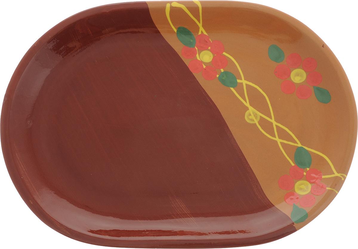 Блюдо Борисовская керамика Стандарт, 31 х 22 смОБЧ14457900Овальное блюдо Борисовская керамика Cтандарт выполнено из высококачественной керамики с покрытием пищевой глазурью. В качестве сырья использована экологически чистая красная глина. Изделие отлично подходит для подачи вторых блюд, сервировки нарезок, закусок, овощей и фруктов. Такое блюдо отлично подойдет для повседневного использования. Оно прекрасно впишется в интерьер вашей кухни. Посуда термостойкая, можно использовать в духовке и в микроволновой печи. Объем: 2,5 л.Размер: 31 х 22 см.
