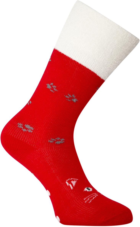 Носки женские oodji, цвет: красный, белый. 57102449-1/46590/4512P. Размер 38/4057102449-1/46590/4512PВысокие теплые носки от oodji из фактурной пряжи. Край на тонкой резинке прочно облегает ногу, но не впивается в тело и не оставляет следов на коже. Особенности этих носков – мягкий ворс. Эластичная пряжа необыкновенно приятна на ощупь, хорошо держит тепло, обладает хорошими амортизирующими свойствами. Носки легки в уходе, не садятся и не сползают.Мягкие бархатистые носки можно носить с утепленной одеждой спортивного типа или использовать в домашнем гардеробе. Лучше всего эта модель будет смотреться как дополнение к лыжным или тренировочным штанам, джинсам в паре с кроссовками, высокими кедами, ботинками на шнуровке. Носки прекрасно подходят для утренних пробежек, прогулок по городу, веселых поездок на дачу и уютного времяпрепровождения дома под теплым пледом с чашечкой кофе. Высокие теплые носки – комфорт каждый день.