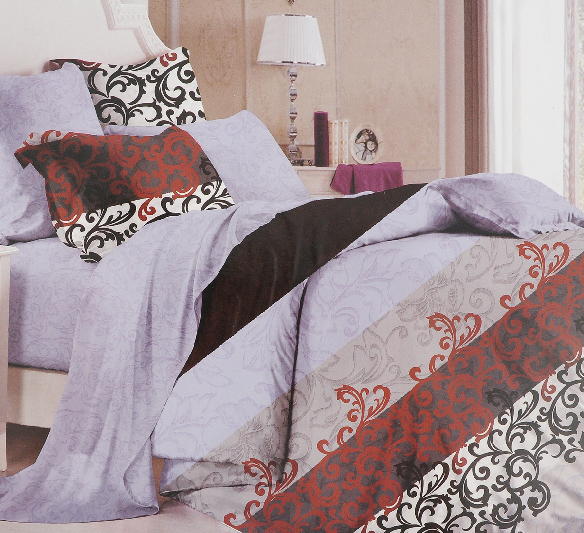 Комплект белья Primavera Classic. Паттерн, 2-спальный, наволочки 70x70, цвет: сиреневый93192Комплект постельного белья Primavera является экологически безопасным для всей семьи, так как выполнен из высококачественного сатина (100% хлопка). Комплект состоит из пододеяльника на молнии, простыни и двух наволочек. Постельное белье оформлено ярким узором и имеет изысканный внешний вид. Сатин - производится из высших сортов хлопка, а своим блеском и легкостью напоминает шелк. Постельное белье из сатина превращает жаркие летние ночи в прохладные и освежающие, а холодные зимние - в теплые и согревающие. Приобретая комплект постельного белья Primavera, вы можете быть уверенны в том, что покупка доставит вам и вашим близким удовольствие и подарит максимальный комфорт.Советы по выбору постельного белья от блогера Ирины Соковых. Статья OZON Гид