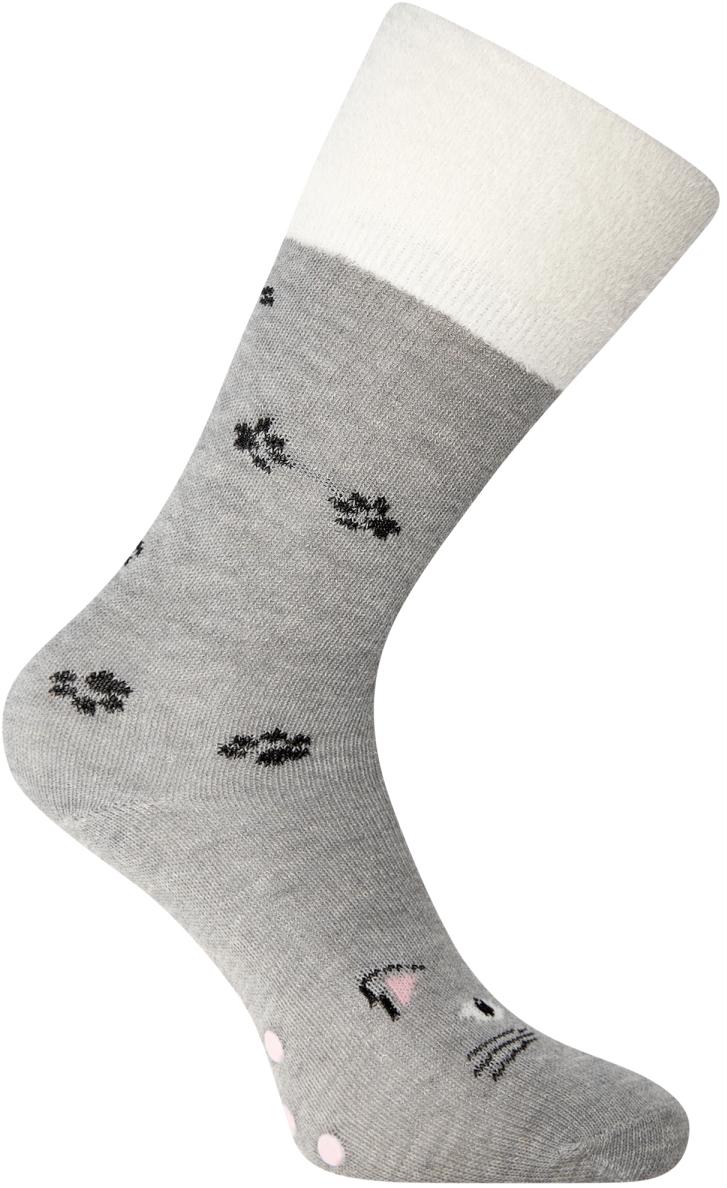 Носки женские oodji, цвет: серый, белый. 57102449-2/43055/2312Z. Размер 38/4057102449-2/43055/2312ZВысокие носки от oodji с узкой резинкой, которая плотно облегает икры и надежно фиксируется на ноге. Носки из хлопковой ткани с добавлением эластана приятно носить: они позволяют коже дышать, не вызывают раздражений, хорошо тянутся и сохраняют тепло. Эти носки прекрасно подходят для разных погодных условий. В них вам будет комфортно!
