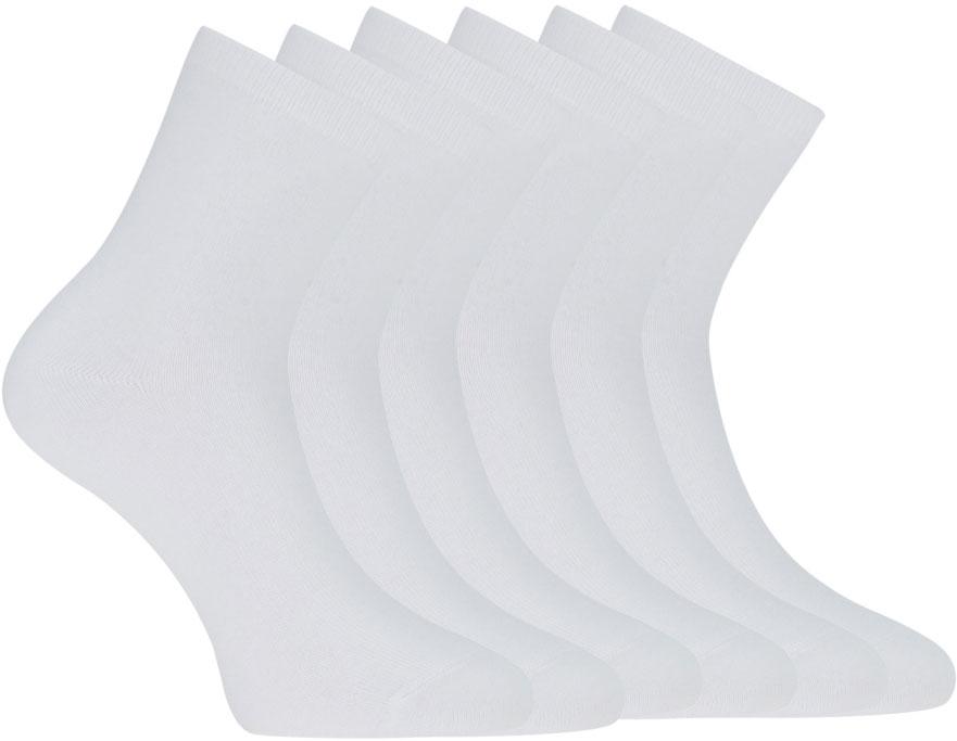 цены Носки женские oodji, цвет: белый, 6 пар. 57102466T6/47469/1000N. Размер 35/37