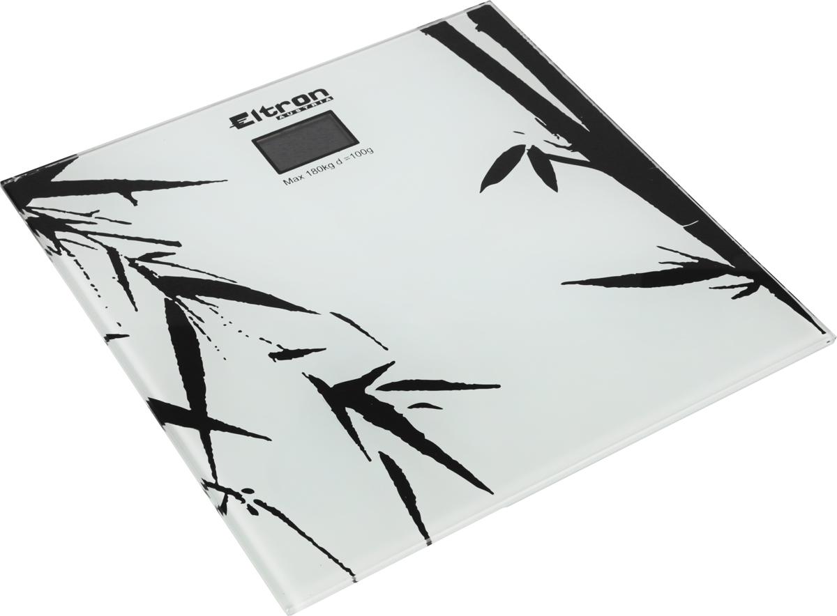 Весы напольные Eltron, электронные, цвет: белый, до 180 кг. 9215EL весы напольные электронные bosch ppw3330