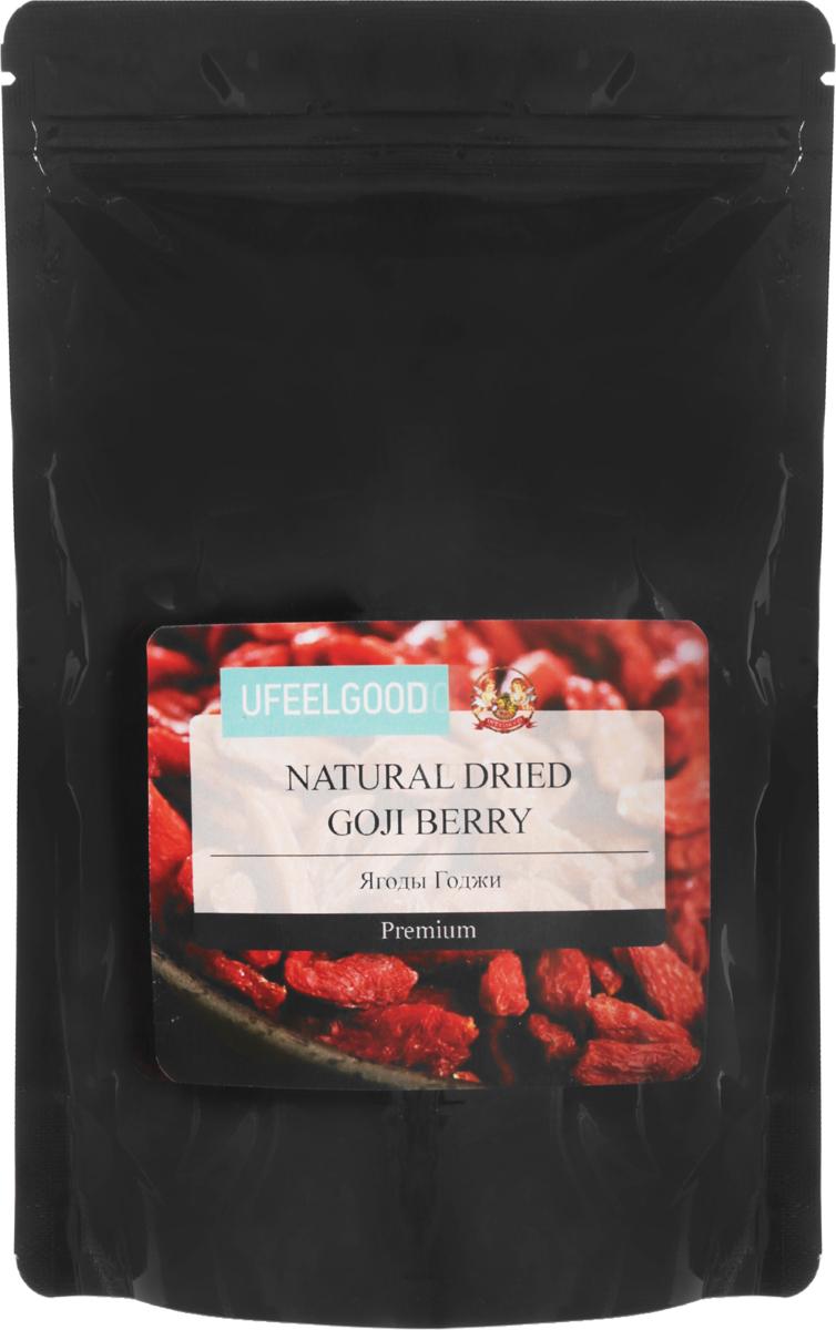 UFEELGOOD Organic Goji Premium Berry органические ягоды годжи, 200 г ufeelgood organic hemp premium seeds конопляные семена очищенные 150 г