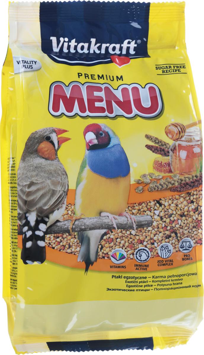Корм для экзотических птиц Vitakraft Exotis, 500 г корм для птиц padovan очищенный овес