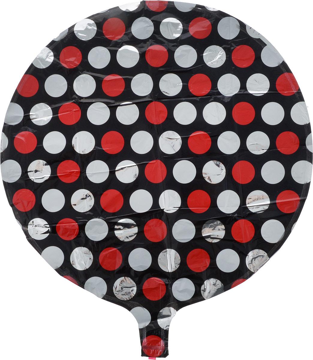 Sima-land Шар воздушный Круг цвет черный белый красный -  Воздушные шарики
