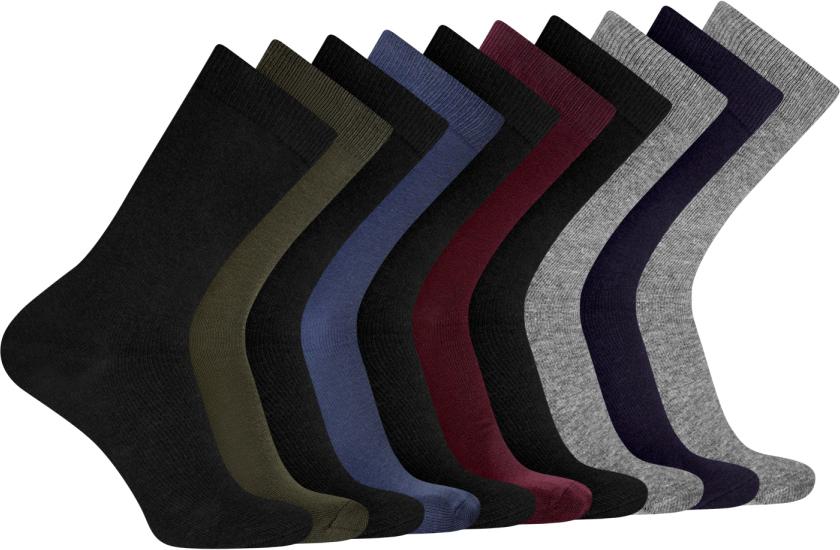 Носки мужские oodji, цвет: черный, коричневый, синий, бордовый, серый, 10 пар. 7B203001T10/47469/1901N. Размер 40/437B203001T10/47469/1901NКомплект из десяти пар носков от oodji. Базовые носки смотрятся сдержанно и не привлекают к себе лишнего внимания. Именно такие носки подходят для повседневного и спортивного гардероба. Они приятны на ощупь, комфортны в ношении и практически не ощущаются на ногах. Трикотаж из хлопка с эластаном не раздражает кожу, хорошо отводит влагу. Большой практичный сет из десяти пар одинаковых носков впишется в любой гардероб. С таким набором вы всегда будете уверены в том, что у вас в запасе есть несколько чистых и свежих пар носков. А после стирки их легко сортировать. Носки отлично смотрятся со спортивной одеждой, джинсами и с закрытой обувью. Если у вас постоянно мерзнут ноги, такой комплект будет незаменим дома. Отличные базовые носки для любителей тепла и комфорта.