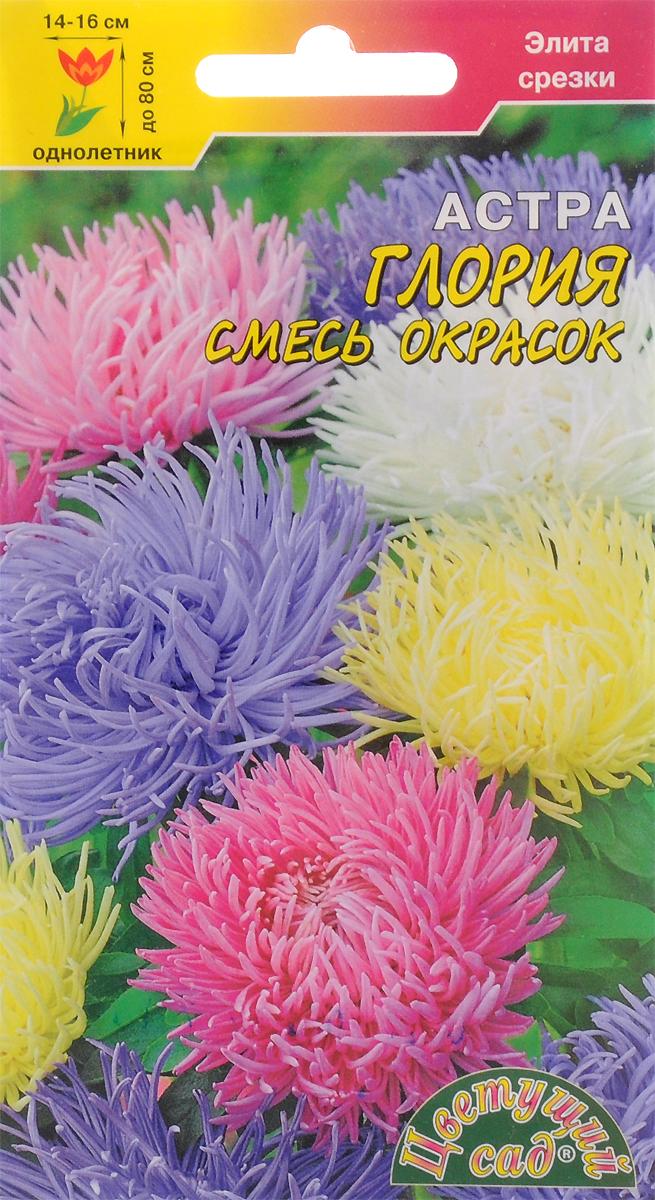 Семена Цветущий сад Астра. Глория смесь4607021810821Глория смесь окрасок. Представляем новинку сезона - крупноцветковые астры серии Глория. Мощные растенияэтого сорта формируют хризантемовидные соцветия отличного качества, которые достигают 14-16 см в диаметре!Высота стеблей-цветоносов до 80 см, соцветия плотные, густомахровые и интенсивно окрашенные, что делает этусерию астр идеальной для качественной и эффектной срезки. Также астры серии Глория характеризуютсяустойчивостью к неблагоприятным погодным условиям и рекомендуются для групповых посадок на газоне, всмешанной клумбе и в высоком бордюре.Агротехника.Астры выращивают как рассадным способом, так и прямым посевом семян в грунт в конце апреля - начале мая илипод зиму (конец октября начало ноября). Семена высевают на поверхности почвы, слегка присыпав легкимгрунтом, накрывают пленкой, для более раннего цветения астры выращивают рассадным способом, так чтобы воз раст растений при высадке в грунт составлял 30-35 дней. В период вегетации проводят подкормки комплекснымиминеральными удобрениями с преобладанием азота.При выращивании рассадой для получения хорошего результата по всхожести и росту рассады, применяйтеторфяные таблетки.Товар сертифицирован.Уважаемые клиенты! Обращаем ваше внимание на то, что упаковка может иметь несколько видов дизайна.Поставка осуществляется в зависимости от наличия на складе.