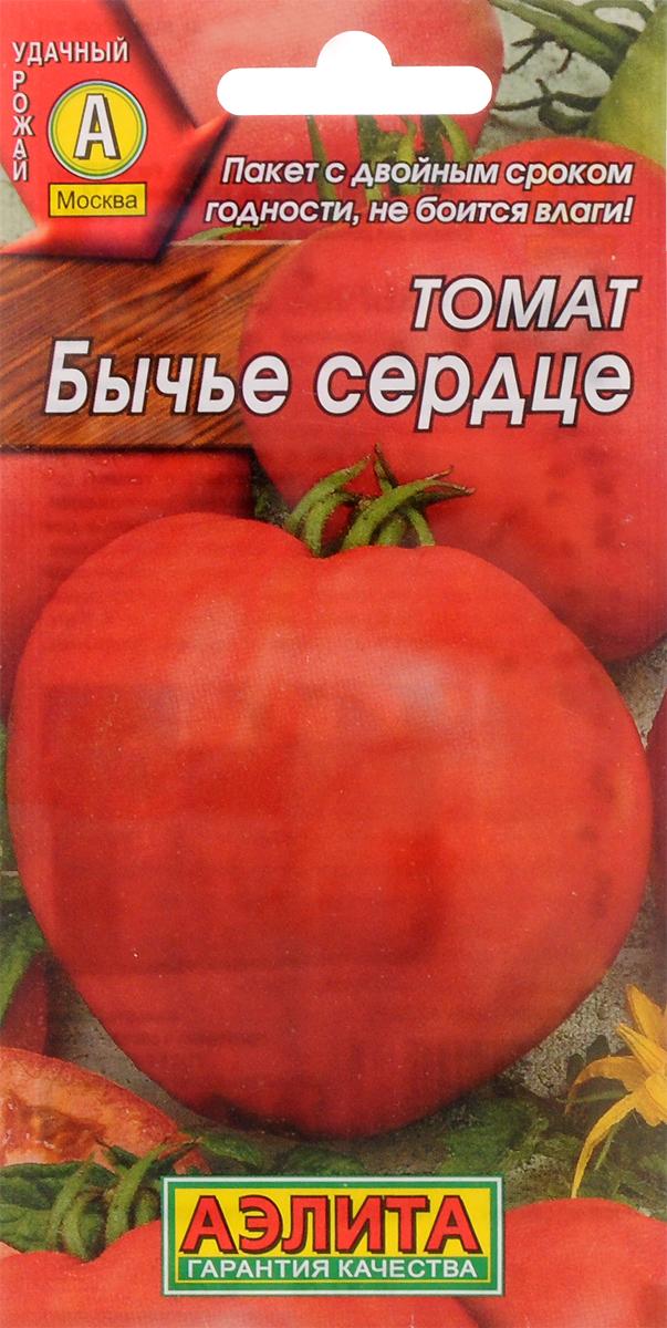 Семена Аэлита Томат. Бычье сердце красное4601729001673Популярный, высокоурожайный среднеспелый сорт, период от всходов до созревания 115-120 дней. Предназначен для выращивания в открытом грунте и под пленочными укрытиями. Урожайность высокая, 8-12 кг/м2. Растения детерминантные, высотой до 150 см. Плоды крупные, массой 110-250 г, при первом сборе до 400 г, сердцевидной формы, мясистые, с тонкой кожицей. Вкус классический помидорный - сладкий, с чуть заметной кислинкой. Один из лучших сортов для употребления в свежем виде и приготовления соков.Посев семян на рассаду с обязательной пикировкой в фазе одного-двух настоящих листьев. Растения высаживают в возрасте 45-50 дней, размещая на 1 кв. м. 4-5 шт. Растениям необходимы регулярные поливы, прополки, рыхления и подкормки.Уважаемые клиенты! Обращаем ваше внимание на то, что упаковка может иметь несколько видов дизайна. Поставка осуществляется в зависимости от наличия на складе.