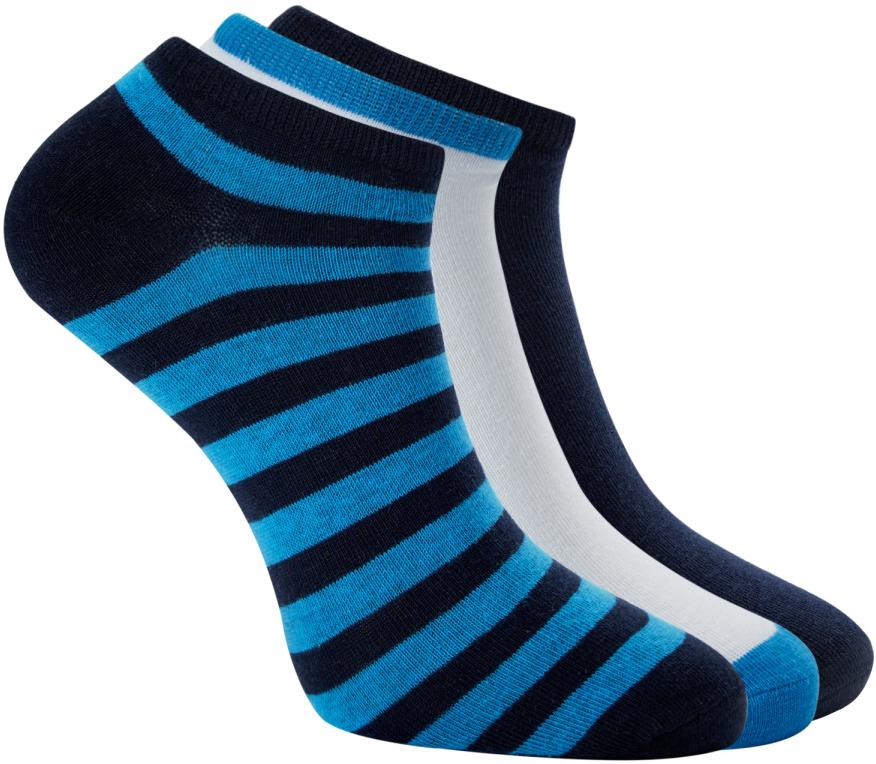 Носки мужские oodji, цвет: темно-синий, синий, 3 пары. 7O230045M/10816/7975B. Размер 40/437O230045M/10816/7975BКомплект из трех пар укороченных носков от oodji. Базовые носки смотрятся сдержанно и не привлекают к себе лишнего внимания. Именно такие носки подходят для повседневного и спортивного гардероба. Они приятны на ощупь, комфортны в ношении и практически не ощущаются на ногах. Трикотаж из хлопка с эластаном не раздражает кожу, хорошо отводит влагу.