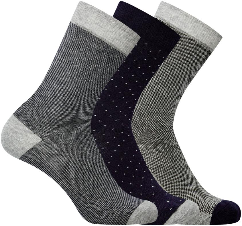 Носки мужские oodji, цвет: серый, черный, 3 пары. 7O233000T3/47469/1900O. Размер 40/437O233000T3/47469/1900OКомплект из трех пар носков от oodji. Базовые носки смотрятся сдержанно и не привлекают к себе лишнего внимания. Именно такие носки подходят для повседневного и спортивного гардероба. Они приятны на ощупь, комфортны в ношении и практически не ощущаются на ногах. Трикотаж из хлопка с эластаном не раздражает кожу, хорошо отводит влагу.