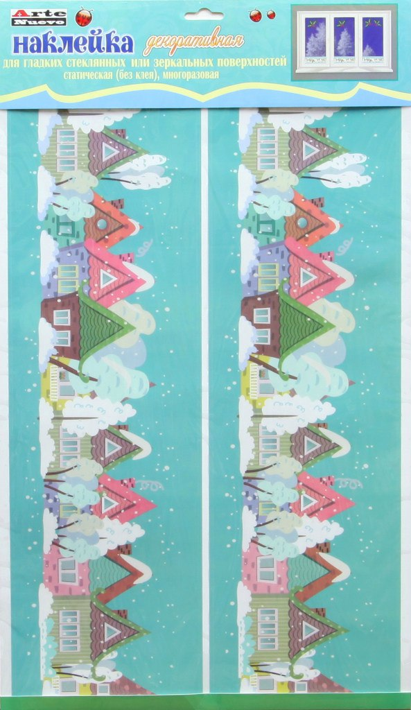 Наклейка декоративная на стекло Arte Nuevo Зима, 33 х 60 см. 2DN-WM-2WIN2DN-WM-2WIN