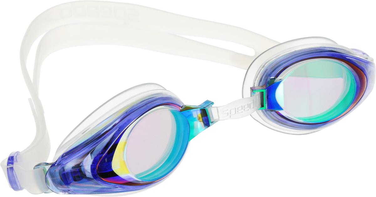Очки для плавания детские Speedo, цвет: голубой, зеленыйTS VC-510A SK -3.5Детские очки для занятий в бассейне и на открытой воде. В очках есть боковая клипса для быстрой и легкой подстройки. Защищают детские глаза от ультрафиолетовых лучей. AntiFog обеспечивает отличную видимость. Предусмотрен двойной гипоаллергенный силиконовый ремешок и уплотнитель. Голубые линзы снижают яркость бликов в воде и обеспечивают отличную видимость.