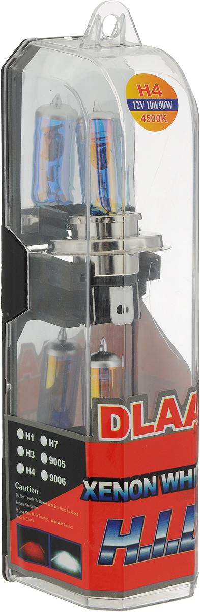 Лампа автомобильная Skyway, галогенная, цоколь H4, 100/90Вт, 12 В, 2 штH4-12V100/90W-P BГалогеновыелампы XENONWHITE+30 4500Kпод ксенон представляют собой очень яркие лампы, имитирующие свет ксенона. Достигается это за счет специального напыления на газонаполненные лампы, а точнее на колбы, в которые под высоким давлением закачан газ.Данныегалогеновыелампы не создают неудобств водителям встречныхавтотранспортных средств, не превышают допустимую нагрузку на бортовую сеть автомобиля, безопасны и долговечны и отвечают всем без исключения стандартам качества.