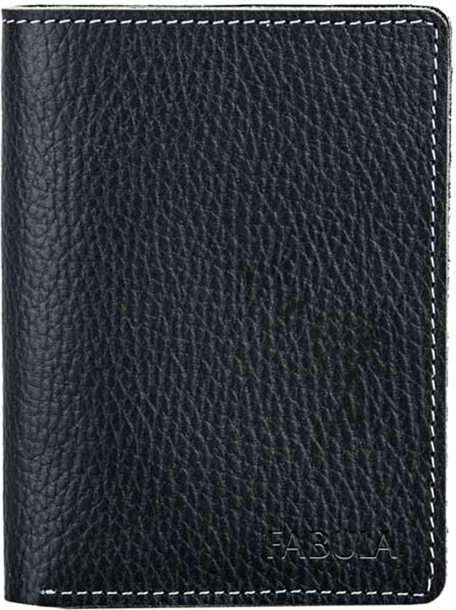 Обложка для паспорта мужская Fabula Blackwood, цвет: черный. O.11.CDO.11.CD.черныйОбложка для паспорта из коллекции Blackwood выполнена из натуральной зернистой кожи. Имеет на внутреннем развороте два кармана из кожи.