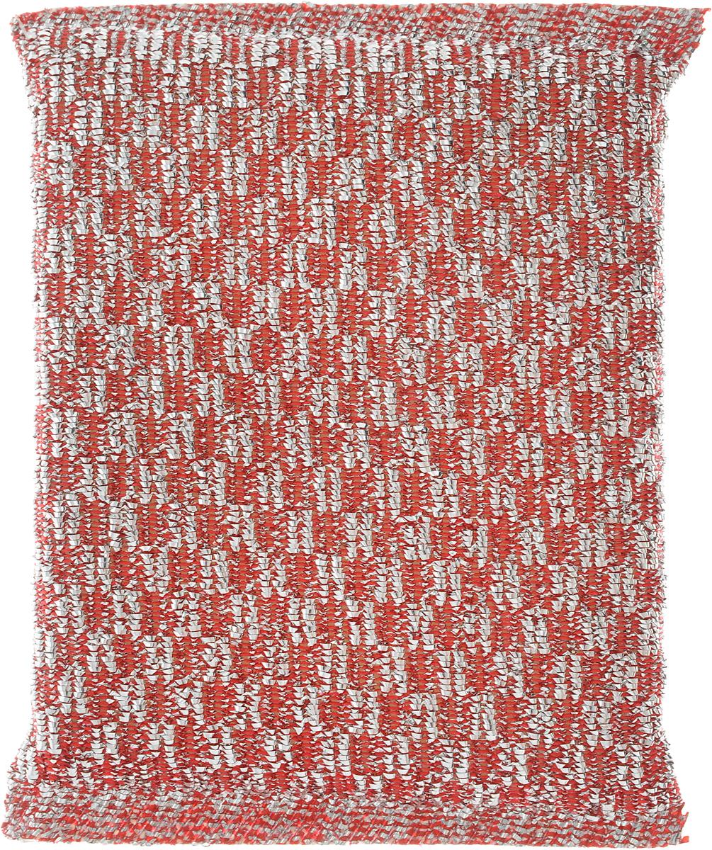 Губка для мытья посуды Home Queen, с металлизированной нитью, цвет: серебристый, красный, 120 х 80 х 25 мм38_серебристый, красныйГубка Home Queen изготовлена из поролона в чехле из полипропиленовой металлизированной нити. Предназначена для мытья посуды и очистки сильно загрязненных кухонных поверхностей. Позволяет экономить моющее средство, благодаря структуре поролона, который дает много пены при использовании.