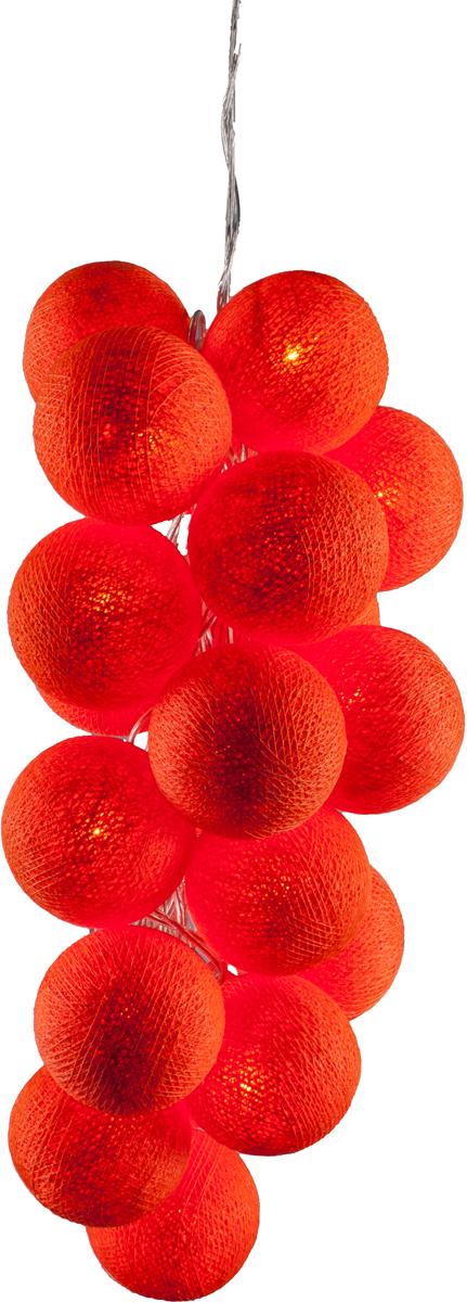 Гирлянда электрическая Гирляндус Оранж, из ниток, LED, 220В, 20 ламп, 3 м4670025842549Нежная гирлянда ручной работы. Каждый шарик сделан вручную из ниток и клея, светится приятным мягким светом. Шарики хрупкие, но даже если вы их помнёте, их всегда можно выправить. Инструкция прилагается.