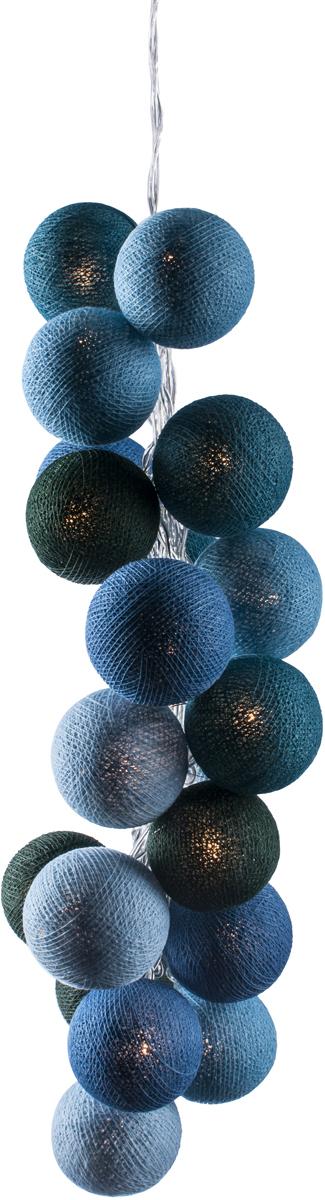 Гирлянда электрическая Гирляндус Море, из ниток, LED, от батареек, 20 ламп, 3 м4670025841887Нежная гирлянда ручной работы. Каждый шарик сделан вручную из ниток и клея, светится приятным мягким светом. Шарики хрупкие, но даже если вы их помнёте, их всегда можно выправить. Инструкция прилагается.
