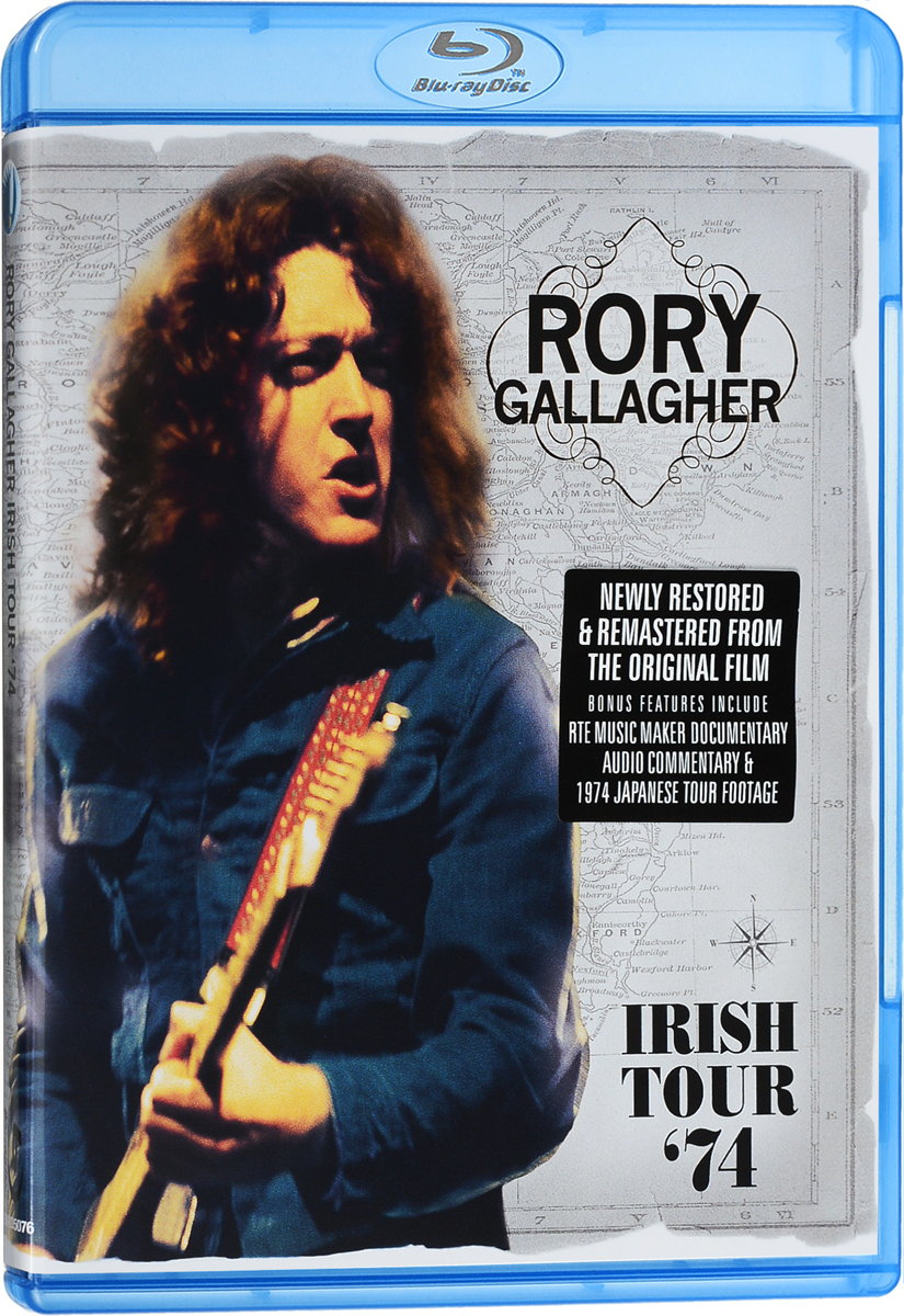 Directed by the seminal music feature filmmaker Tony Palmer, Irish Tour 1974 captures Rory Gallagher - the man, his music and the magical connection with his live audience to perfection.During the heightened periods of heavy violence and political unrest in Ireland, when other artists dared not come near the place, Gallagher was resolute about, touring Ireland winning him the adoration and dedication of thousands of fans, and in the process, becoming a role model for other aspiring young Irish musicians, spearheading the entire Irish rock movement.Tracklist:Walk On Hot CoalsTattoo'd LadyWho's That ComingA Million Miles AwayGoing To My Home TownCradle RockAs The Crow FliesHands OffBullfrog Blues