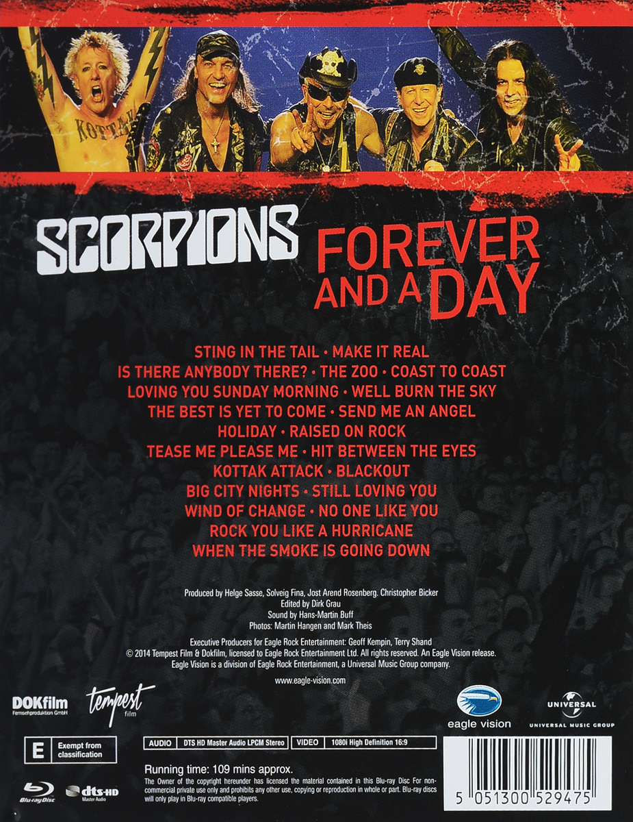 Scorpions:  Forever And A Day - Live in Munich 2012 (Blu-ray) Eagle Vision,Eagle Rock Entertainment Ltd