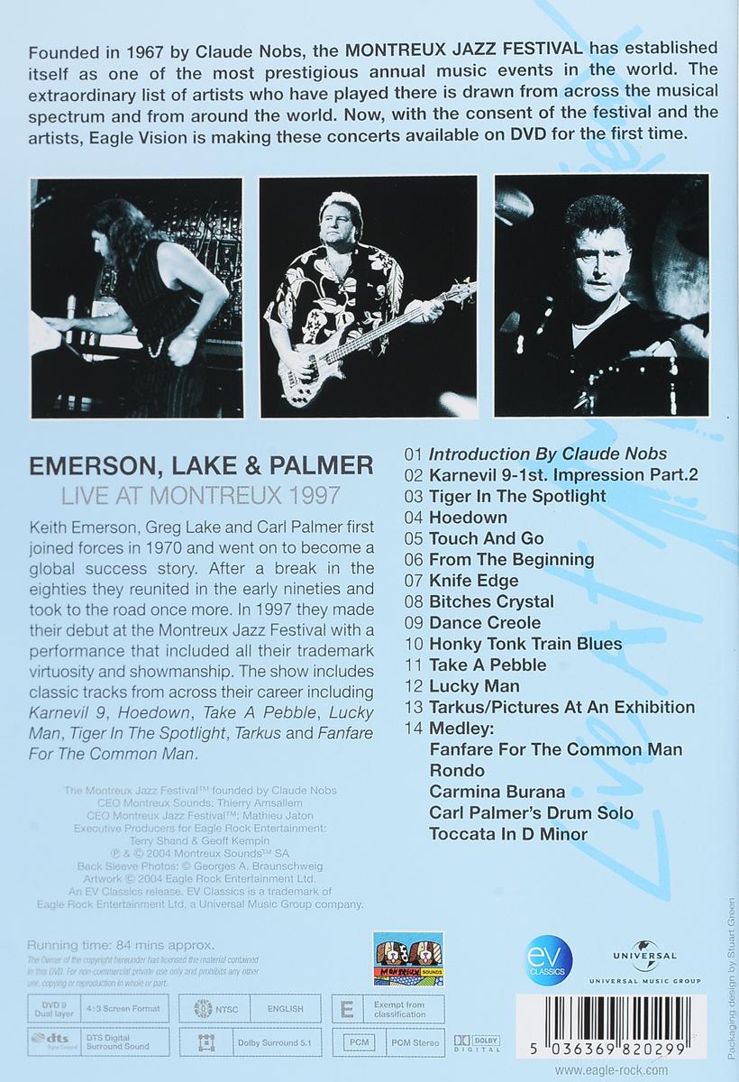 Emerson, Lake& Palmer:  Live At Montreux 1997 Eagle Vision