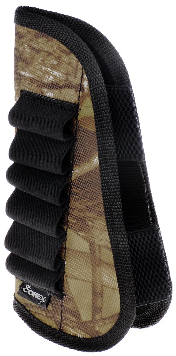 Патронташ на приклад, на 6 патронов, 12-16 к. 13613771361377Камуфлированный патронташ используется для ношения на прикладе охотничьего ружья. Он имеет 6 карманов для 12-16 калибра. Изделие на липучке выполнено из синтетического материала защитной расцветки.