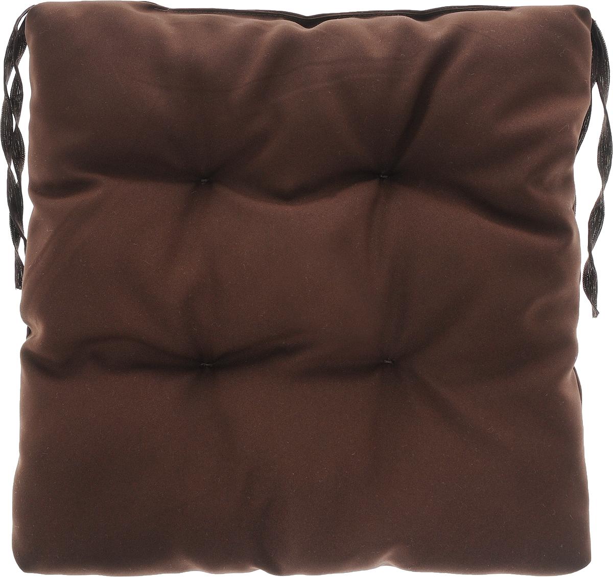 Подушка на стул Eva, объемная, цвет: коричневый, 40 х 40 см подушка на стул арти м райский сад