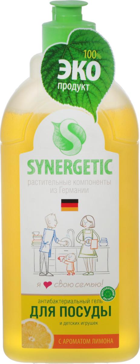 Средство для мытья посуды Synergetic, концентрированное, лимон, 0,5 л103051Концентрированное высокопенное средство Synergetic предназначено для мытья всех видов посуды от любых загрязнений. Средство гипоаллергенно и не содержит консервантов, так как в состав входят полностью натуральные компоненты. Подходит для мытья фруктов, детской посуды и игрушек. Эффективно удаляет запахи и жир даже в ледяной воде. 100% биоразлагаемость в воде, не вредит микрофлоре септических установок. Соответствует нормам САН ПИН. Имеет аромат лимона. Состав: А-тензиды 5-15% (растительного происхождения), глицерин, натуральный экстракт лимона, пищевой краситель.Товар сертифицирован.