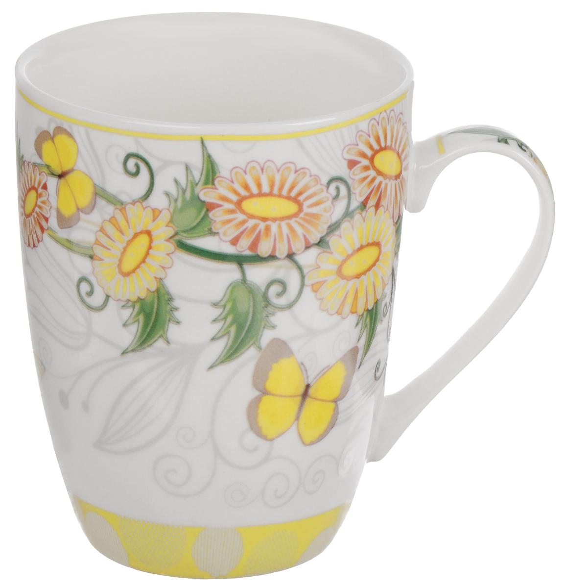 Кружка Доляна Элеонора, с заварником, 300 мл кружка доляна радуга цвет желтый белый 300 мл