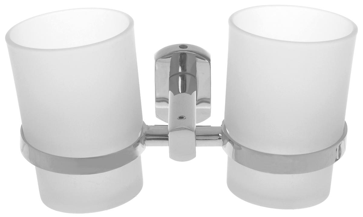 Подстаканник для ванной Grampus Coral, двойной, цвет: хром7007Подстаканник двойной