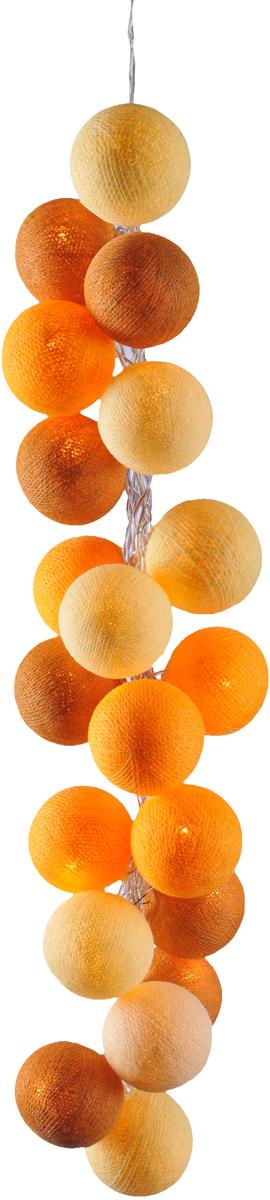 Нежная гирлянда ручной работы. Каждый шарик сделан вручную из ниток и клея, светится приятным мягким светом. Шарики хрупкие, но даже если вы их помнёте, их всегда можно выправить. Инструкция прилагается.