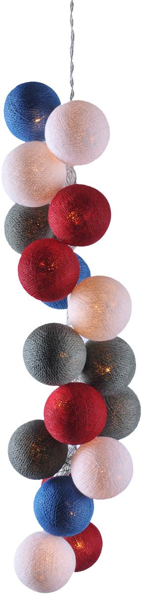Нежная гирлянда ручной работы. Каждый шарик сделан вручную из ниток и клея, светится приятным мягким светом. Шарики хрупкие, но даже если вы их помнете, их всегда можно выправить. Инструкция прилагается.